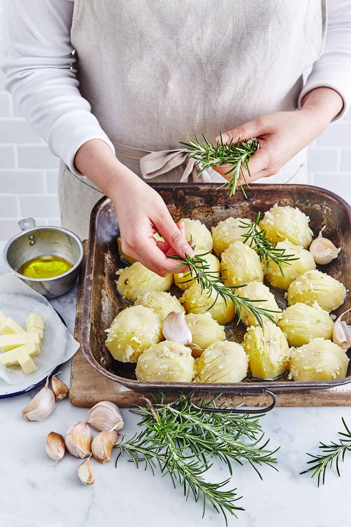 Rosemary, garlic, duck fat and potatoes are a winning combination.