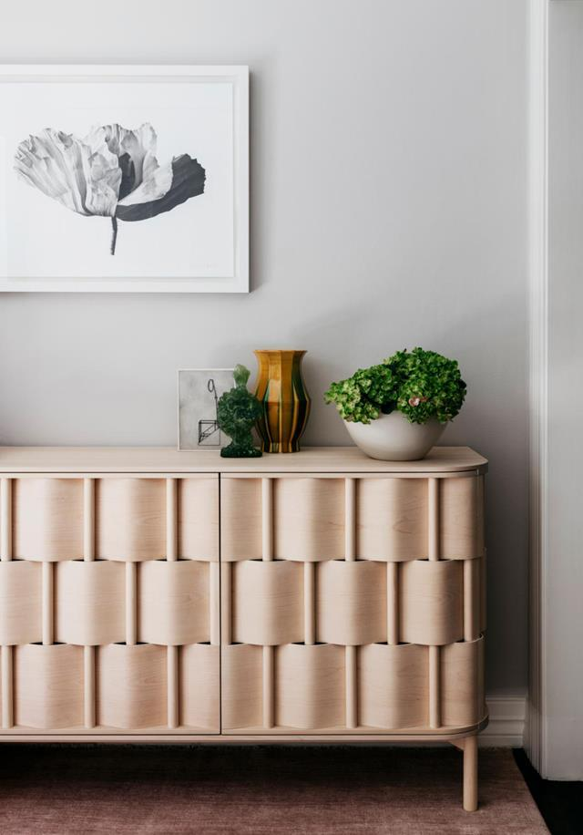 "With the colour palette dialled to neutral this [Sydney house](https://www.homestolove.com.au/functional-and-elegant-home-by-arent-and-pyke-20352|target=""_blank"") has a new lease on life courtesy of Arent & Pyke. In the study is a Ringvide Studio 'Weave' cabinet in natural birch from Criteria."