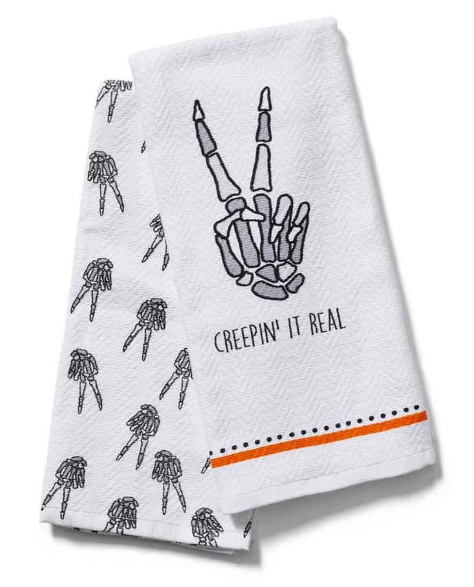 'Creepin it real' **towel set**, $12.95, from **TK Maxx**.