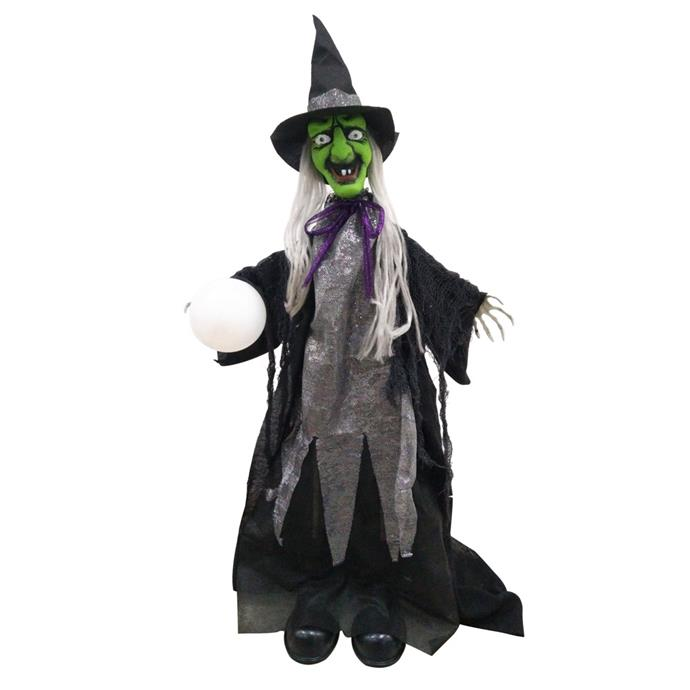 "Animated Halloween **wicked witch**, $49.95, from [Witches of Halloween Shoppe](https://www.witchesofhalloween.com.au/animated-halloween-wicked-witch/|target=""_blank""