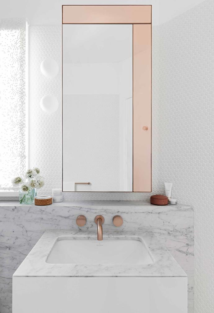 "This medley of marble, [Bisanna tiles](https://www.bisanna.com.au/|target=""_blank""