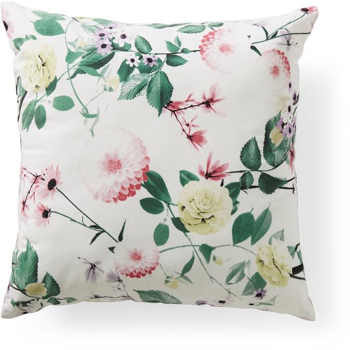 House & Home printed **cushion** in 'Meadow Floral', $12.