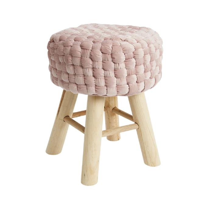 Kodu chunky knitted **stool**, $29.