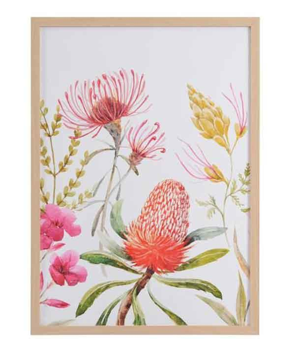 Design House 50x70cm **framed print** in 'Flora', $19.