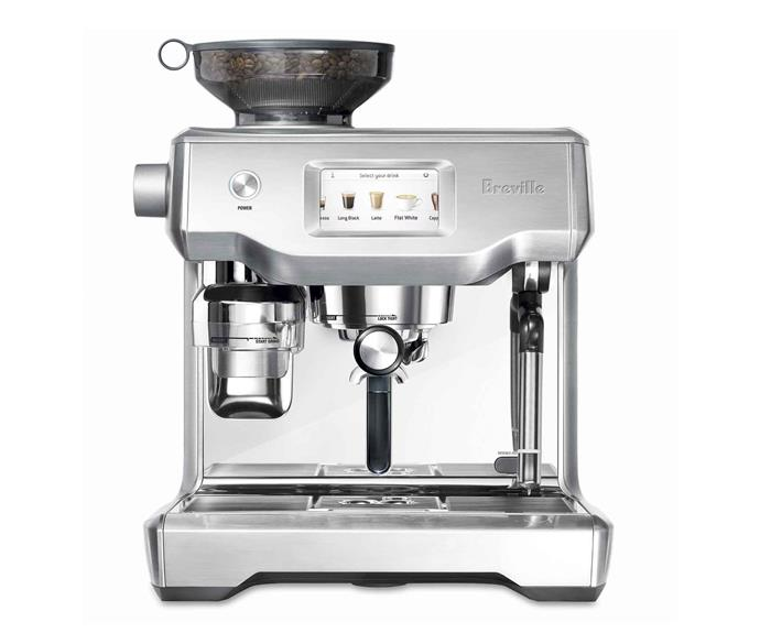 "The Barista Express automatic coffee machine in Brushed Stainless Steel, $949, [Breville](https://www.breville.com/au/en/home/index.html|target=""_blank""