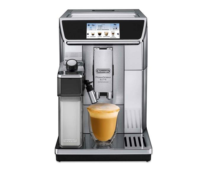 "De'Longhi 'PrimaDonna Elite Experience' automatic coffee machine in Silver, $2599, [Harvey Norman](https://www.harveynorman.com.au/|target=""_blank""|rel=""nofollow"")."