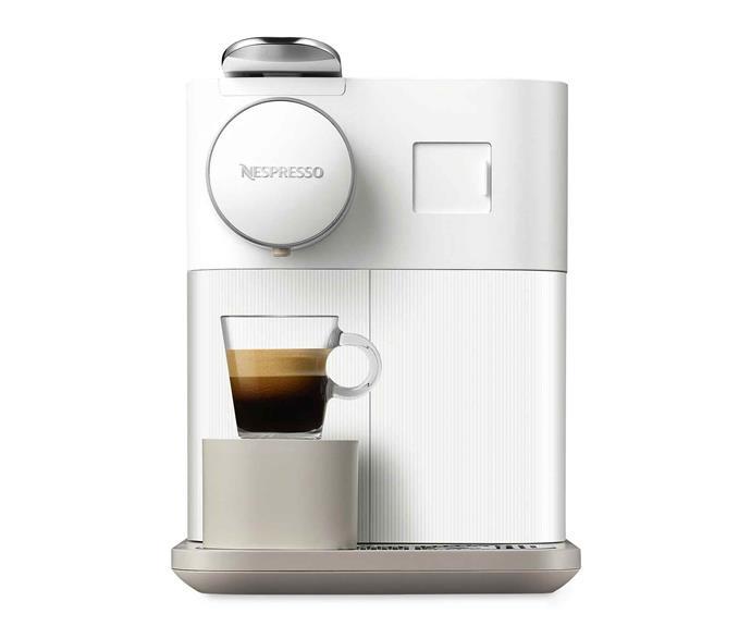"De'Longhi 'Gran Lattissima' capsule coffee machine in White, $749, [David Jones](https://www.davidjones.com/|target=""_blank""|rel=""nofollow"")."