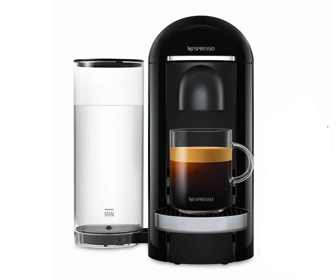 "VertuoPlus capsule coffee machine in Black, $299, [Nespresso](https://www.nespresso.com/au/en/home|target=""_blank""|rel=""nofollow"")."