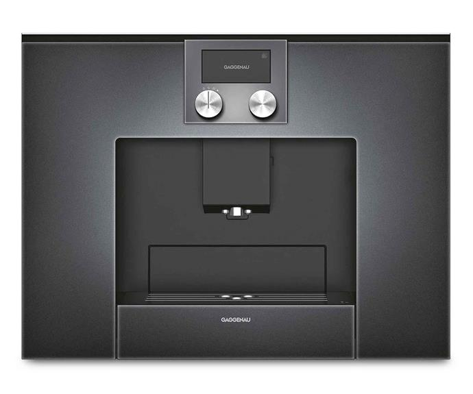 "**Gaggenau '200 Series CMP 250 101' fully automatic built-in espresso machine, $5999, [Winning Appliances](https://www.winningappliances.com.au/p/gaggenau-200-series-200-series-builtin-coffee-machine-cmp250101|target=""_blank""
