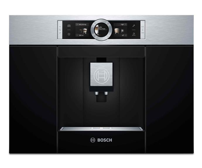 "Bosch 'Series 8 CTL636ES1' fully automatic built-in coffee machine, $3699, [The Good Guys](https://www.thegoodguys.com.au/|target=""_blank""