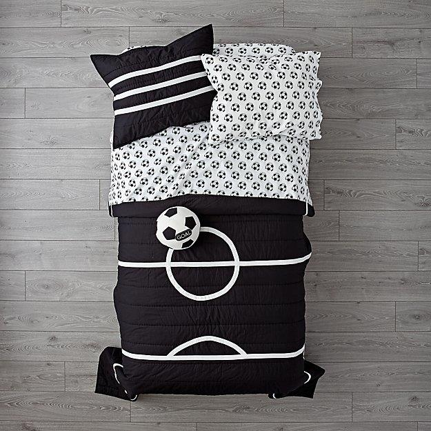 "'Soccer' organic cotton **bedding**, starting from $24.88, from [Crate & Barrel](https://www.crateandbarrel.com/soccer-bedding/f82021|target=""_blank""