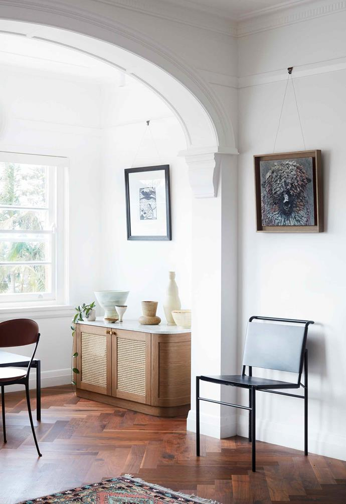 "**Sunroom** ""We thought an elliptical arch would provide a wide curve, spanning the opening which we had closed in slightly,"" says interior designer Suzanne Gorman. Artwork by Erich Heckel"
