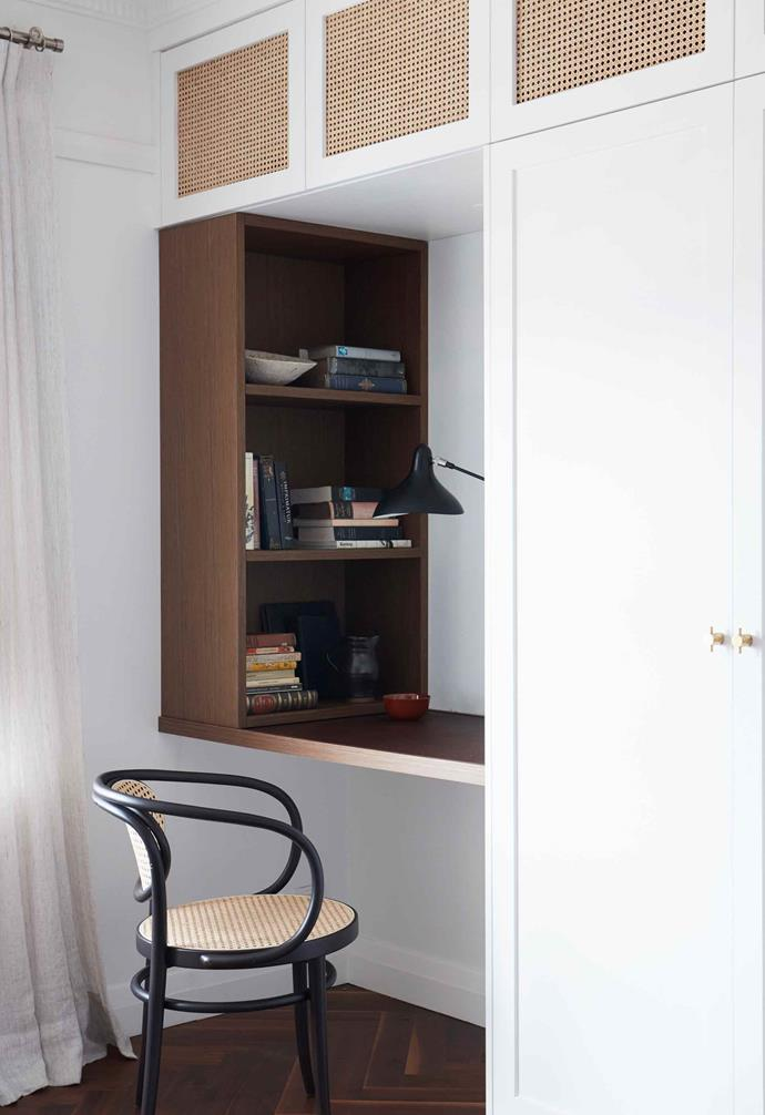 **Bedroom** A small study nook was created in the bedroom.