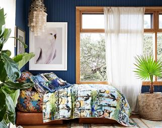 Kids bedroom with where the wild things bedding