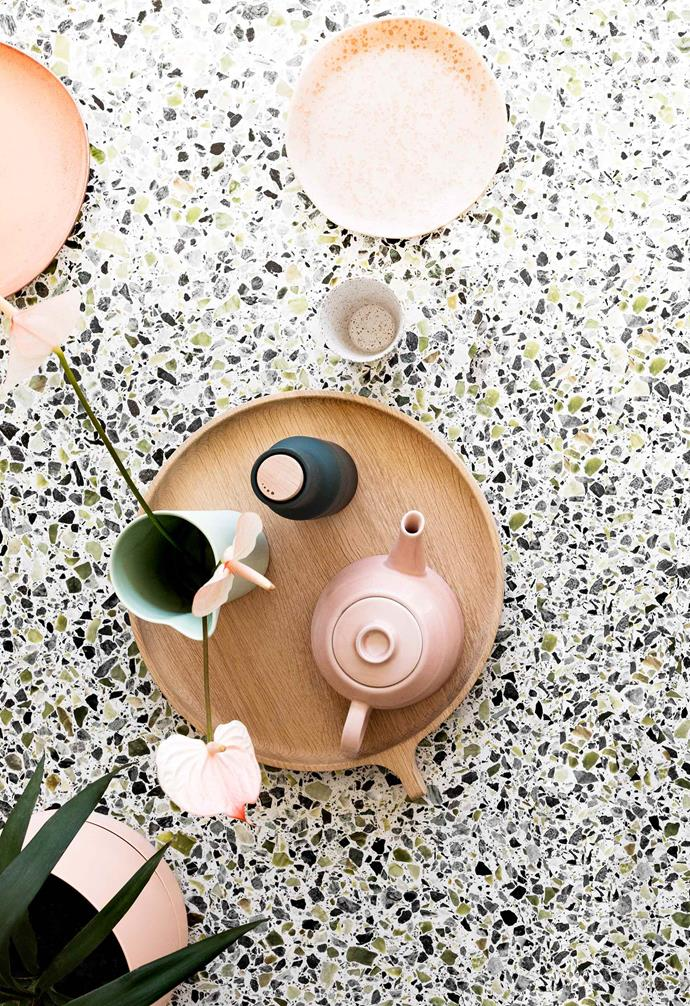 **Terrazzo magic** Terrazzo is ideal for bringing some of a room's colours into play.