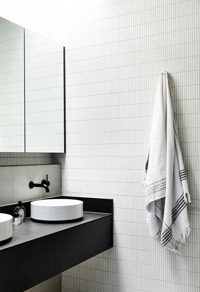 **Broad appeal** Matt black tapware in a bathroom by Studio Tom and Made Build.