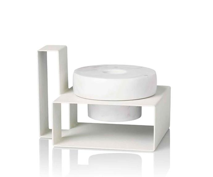 "Lucie Kaas 'Marco' candleholder, $110, [Oliver Thom](https://oliverthom.store/|target=""_blank""