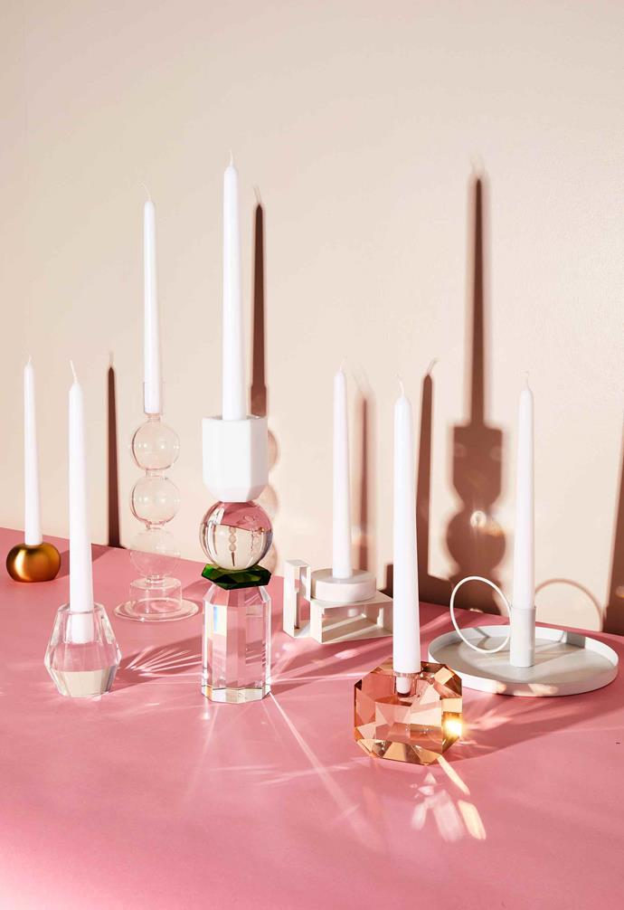 A candleholder is the perfect way to make a small but striking statement.