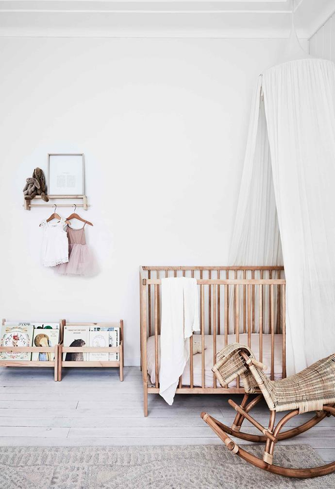 "**Willa's bedroom** ""I wanted Willa's room to feel really warm, cosy and comfortable, with space for her to play,"" says Natalie. Willa's cot, [IKEA](https://www.ikea.com/au/en/
