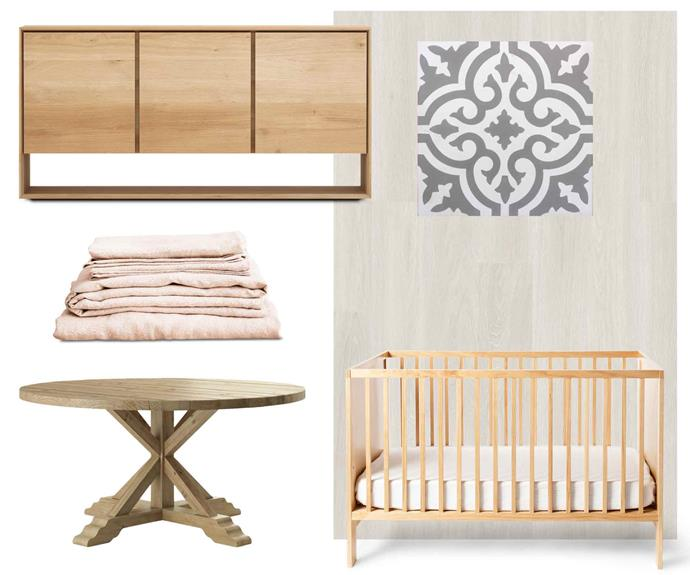 "**Nice and natural** A white palette with untreated timbers and organic fabrics helps keep life blissfully uncomplicated. **Get the look** (clockwise from left) Ethnicraft 'Oak Nordic' sideboard, $2375, [Curious Grace](https://curiousgrace.com.au/|target=""_blank""