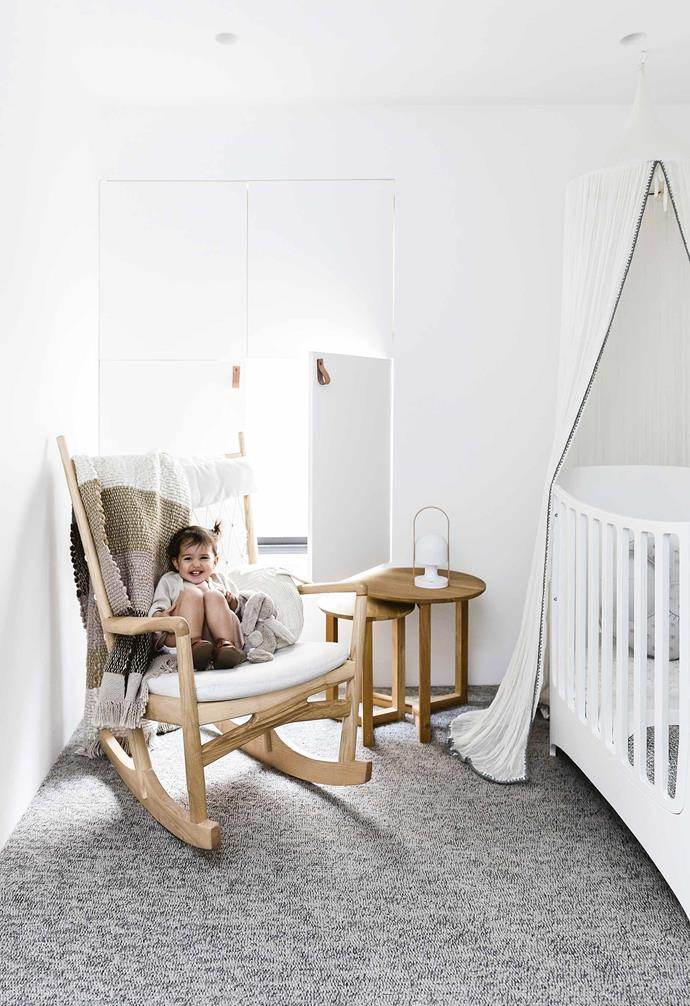 "While the renovation of this [Federation cottage in Queens Park](https://www.homestolove.com.au/federation-cottage-queens-park-18311|target=""_blank"") focused heavily on increasing natural light within the home, the nursery features hinged panel shutters to allow the room to be darkened completely during nap time.<br><br>"