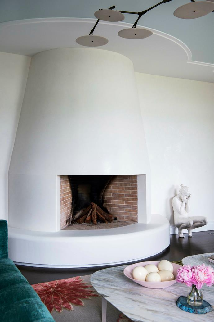Arches, curved windows and doorways are a significant architectural feature of the original structure of this 1930s home in Sydney. Architect Robert Weir and interior designer Briony Fitzgerald continued the curved motif into the interior spaces. *Photograph: Brigid Arnott.*