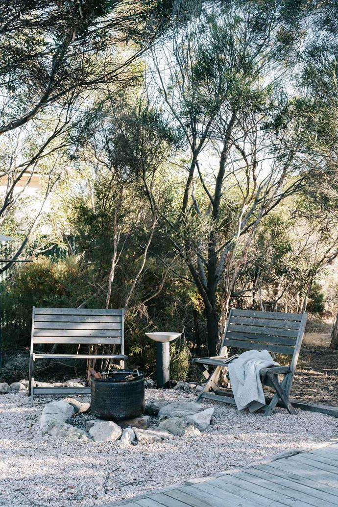 "The children love to toast marshmallows over a [fire pit](https://www.homestolove.com.au/how-to-build-a-fire-pit-3240|target=""_blank"") in the garden while sitting around and reading; ""This is where we hang out, close to the fire and the kitchen,"" says Sarah."