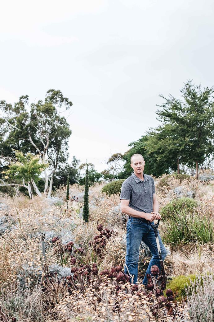 "Kurt Wilkinson has spent the past seven years creating a large-scale garden. ""My aim is the creation of an ecosystem of brutally tough plants that will provide colour, form and movement as well as biological habitat,"" he says."