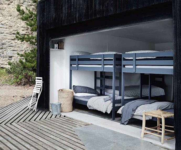 Bunk beds at Summer House in Satellite Island, TAS