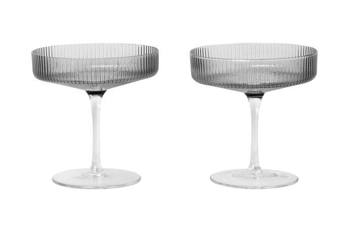 "Ripple champagne saucer, 39EUR, [Ferm Living](https://fermliving.com/|target=""_blank""|rel=""nofollow"")."