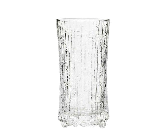"Iittala Ultima Thule sparkling wine glass, $126 for four, [Finnish Design Shop](https://www.finnishdesignshop.com/tableware-drinkware-wine-glasses-ultima-thule-sparkling-wine-glass-set-p-19352.html?region=au|target=""_blank""|rel=""nofollow"")."
