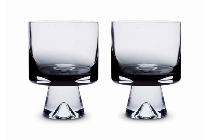 "Tom Dixon 'Tank' low-ball glass, $12 for two, [Top3 By Design](https://top3.com.au/|target=""_blank""