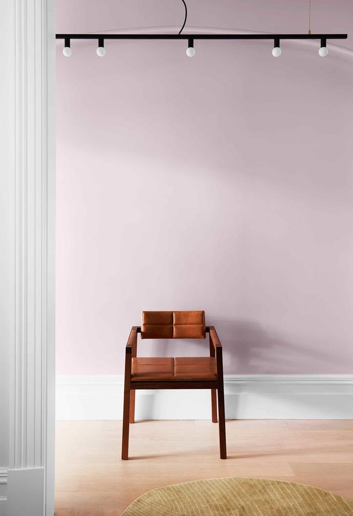 """**Hallway** A pale pink panel in the entrance's arched inset adds a subtle block of colour. Lara used Bohemia by [Porter's Paints](https://www.porterspaints.com/