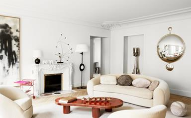 A chic Paris apartment with serious curve appeal