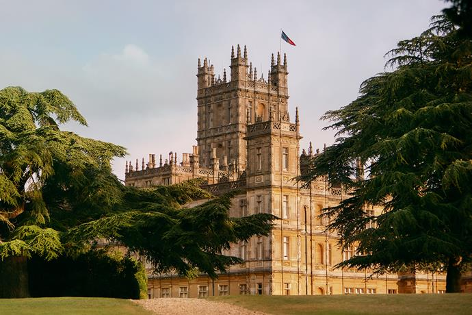 Downton Abbey was filmed at Highclere Caslte in Hampshire, England.