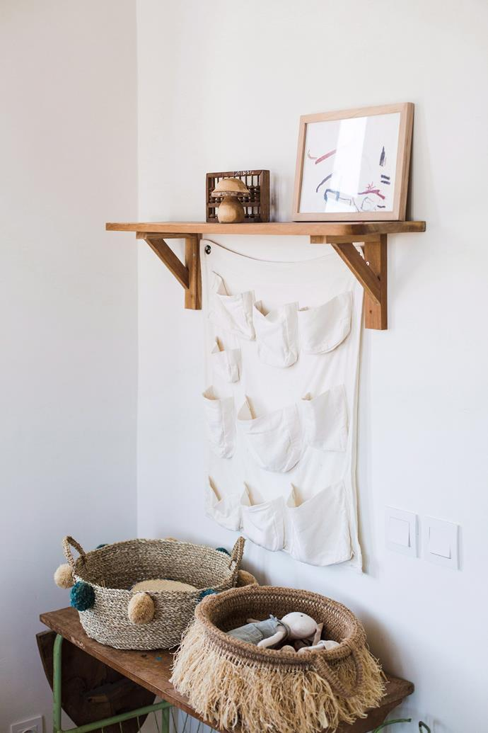"""**Nursery room:** Baskets are a godsend when it comes to keeping kids rooms and nurseries in order. Use [stylish storage](https://www.homestolove.com.au/affordable-storage-ideas-for-the-home-5709