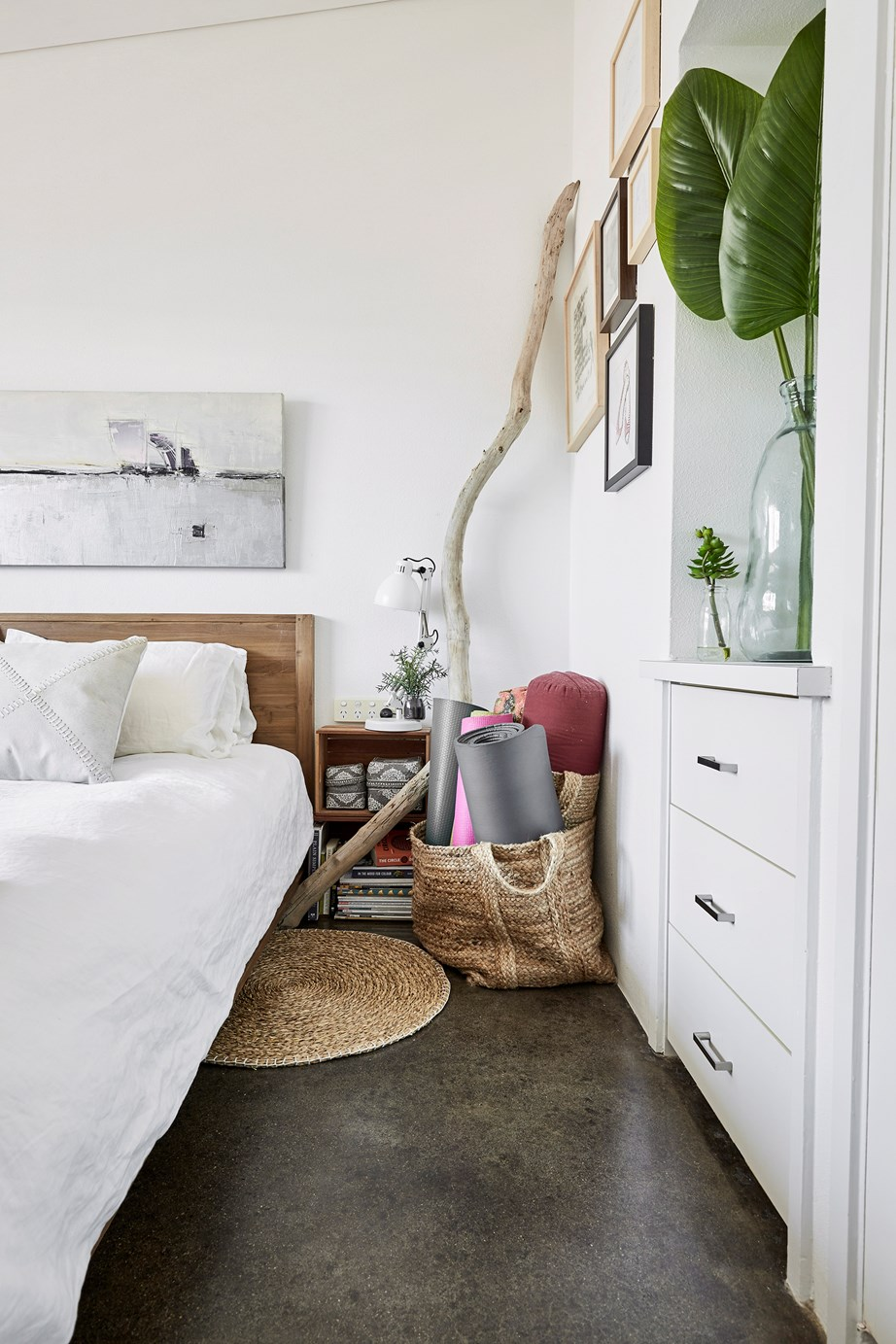 "Clutter can build up easily around the house, particularly in areas that are filled with lots of fiddly bits and pieces, like bedrooms, cupboards and work areas. Sometimes, simplicity is the key and all that's required is a few [small storage baskets](https://www.homestolove.com.au/storage-baskets-13356|target=""_blank"") to keep everything neat and ordered. <br><br> **Buy:** Rope and jute stripe basket with handles, $12, [Kmart](https://www.kmart.com.au/product/rope-and-jute-stripe-basket-with-handles/2609808