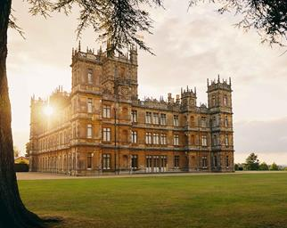 Exterior image of Highclere Castle where Downton Abbey was filmed