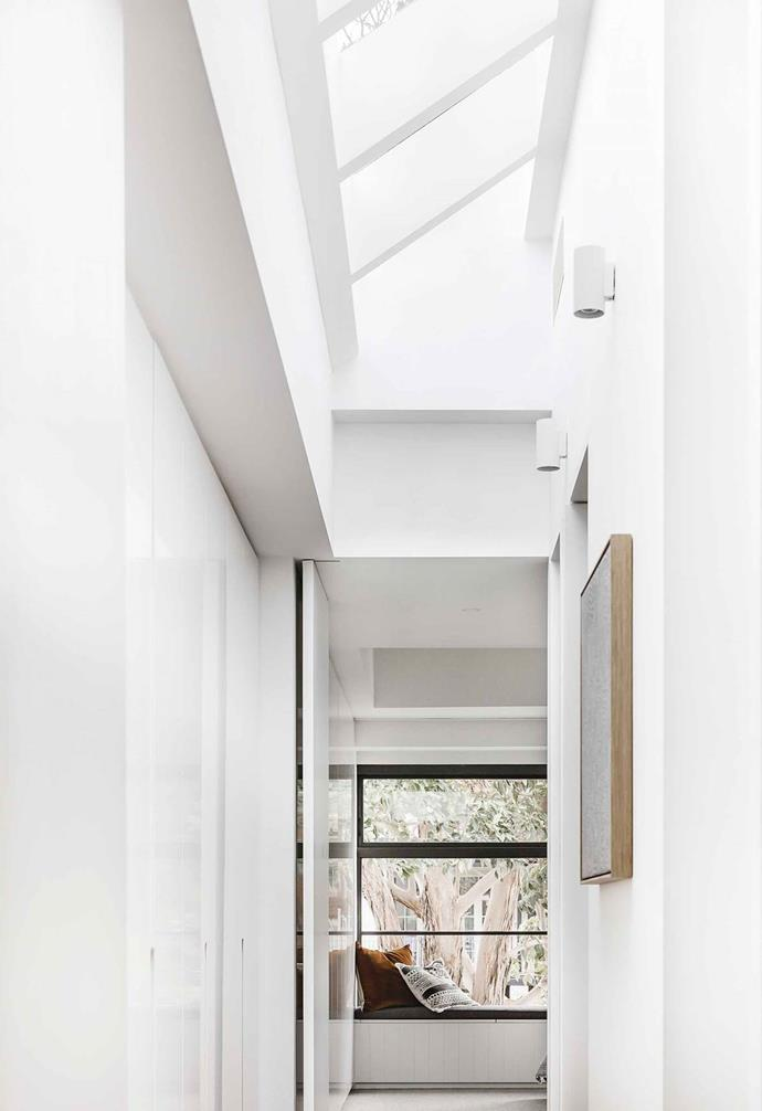 "A modular skylight runs along the length of this [updated Federation cottage's](https://www.homestolove.com.au/federation-cottage-queens-park-18311|target=""_blank"") hallway, adding visual interest and keeping the space fresh."