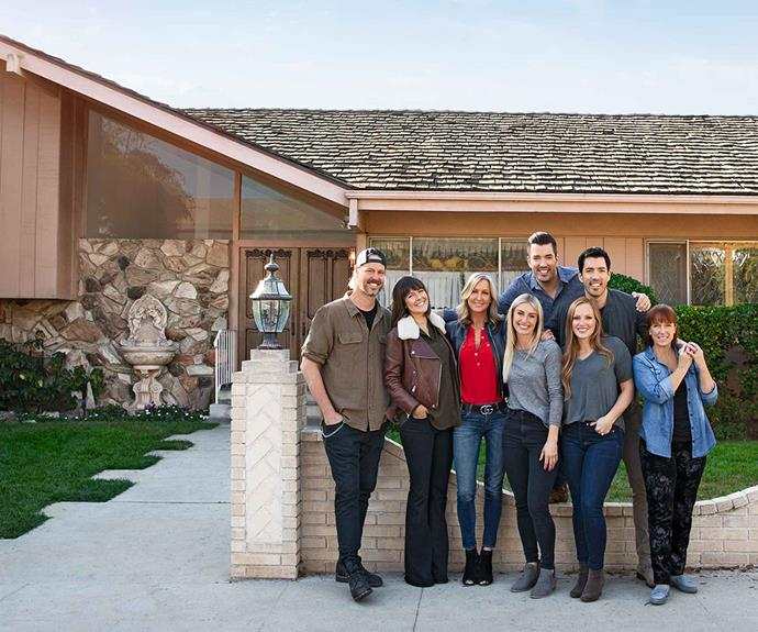 A team of HGTV's celebrity renovators, including The Property Brothers, helped to recreate the original house as it appeared in the television series.