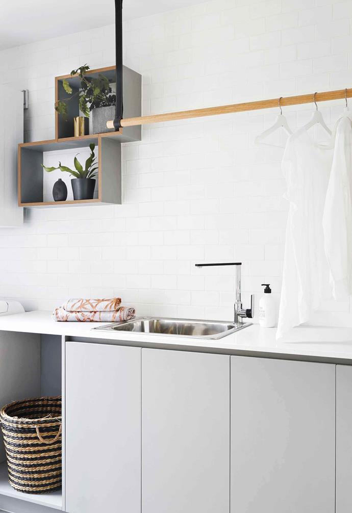 "The slim dowel is both a stylish and functional choice in the laundry of [this Queensland home](https://www.homestolove.com.au/palm-springs-house-coorparoo-19769|target=""_blank"")."