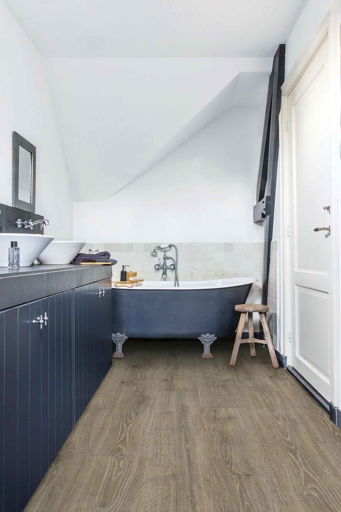 "'Majestic' laminate flooring in Woodland Oak Brown from [Premium Floors](https://www.premiumfloors.com.au/|target=""_blank""|rel=""nofollow"") is waterproof."