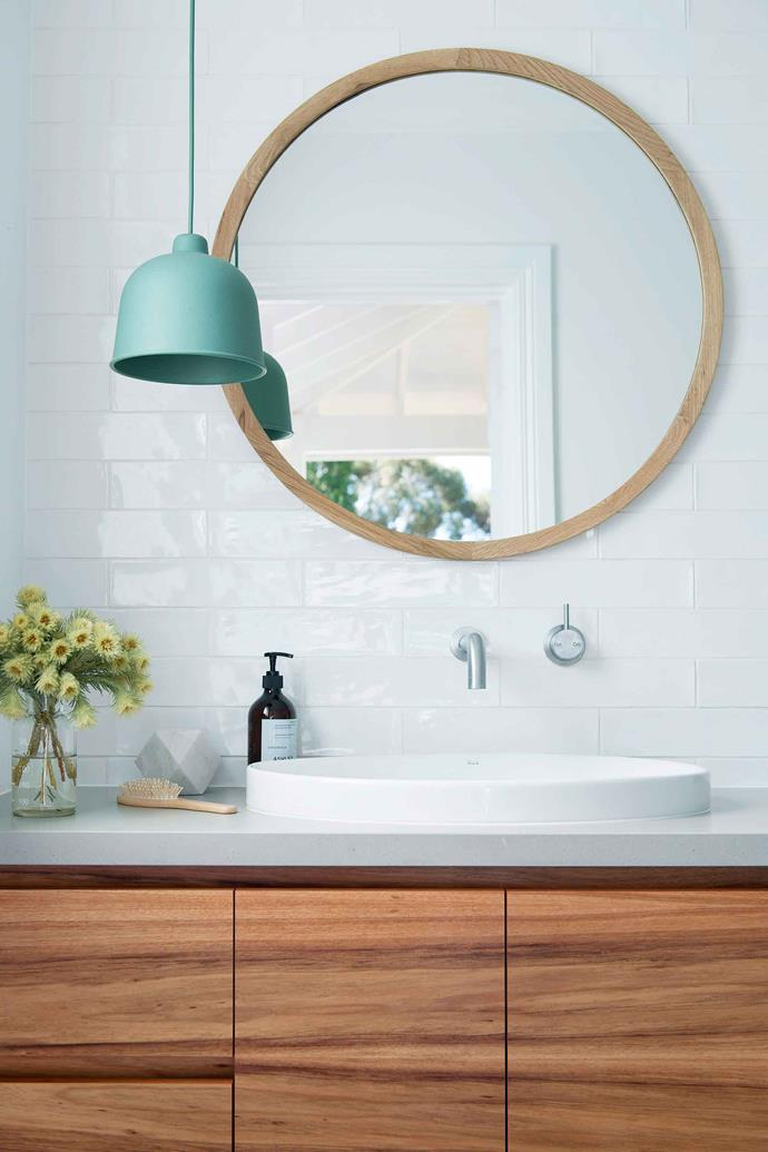 Prevent your bathroom mirror from fogging up with a bar of soap and a clean cloth.
