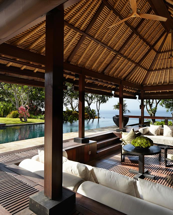 Traditional Balinese forms and high Italian style come together in this luxurious resort.