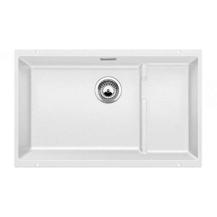 "'Blanco' Silgranit single bowl **sink** in white, $1099, from [Harvey Norman](https://www.harveynorman.com.au/blanco-silgranit-single-bowl-sink-white.html|target=""_blank""|rel=""nofollow"")"