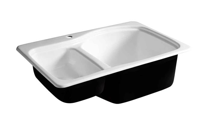 "'Fitzroy' cast iron **sink** in white, $749, from [Schots Home Emporium](https://www.schots.com.au/sales-new/fitzroy-cast-iron-sink-white-kai64bs460.html|target=""_blank""|rel=""nofollow"")"
