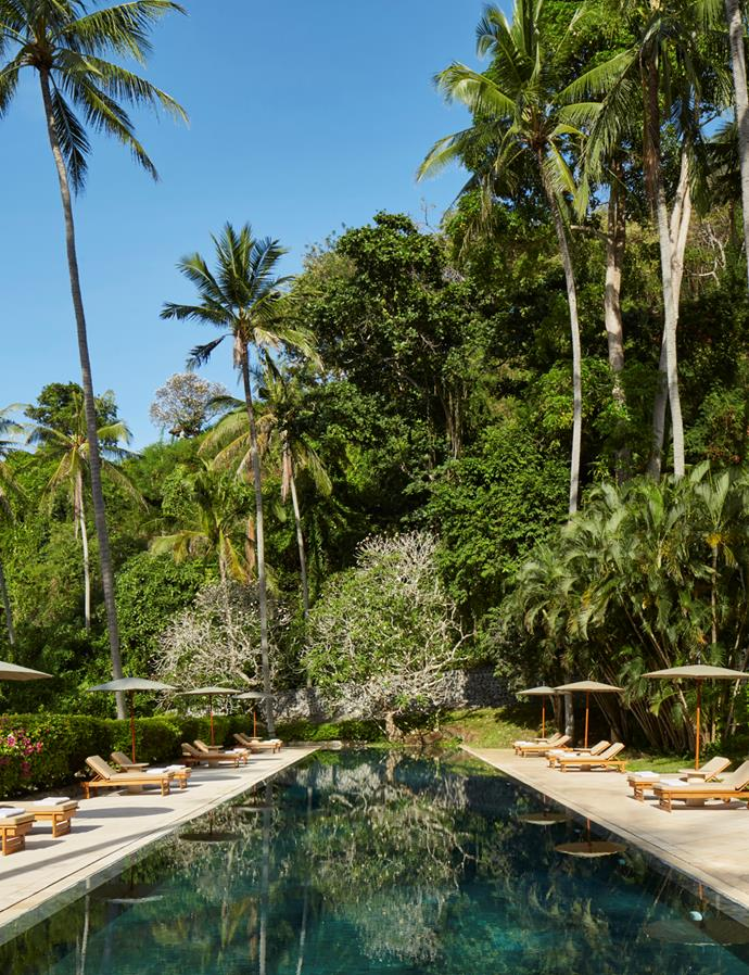 The resort is located within Ubud's lush surrounds.