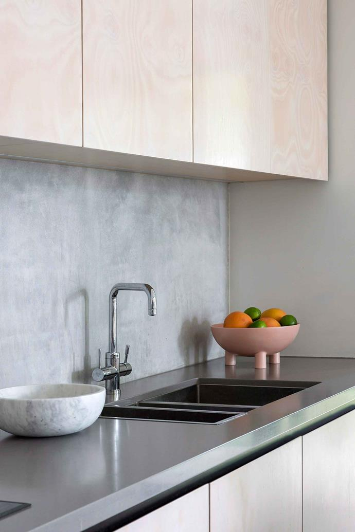 Along with brass and matte black, gunmetal has been a popular choice for kitchen sinks.