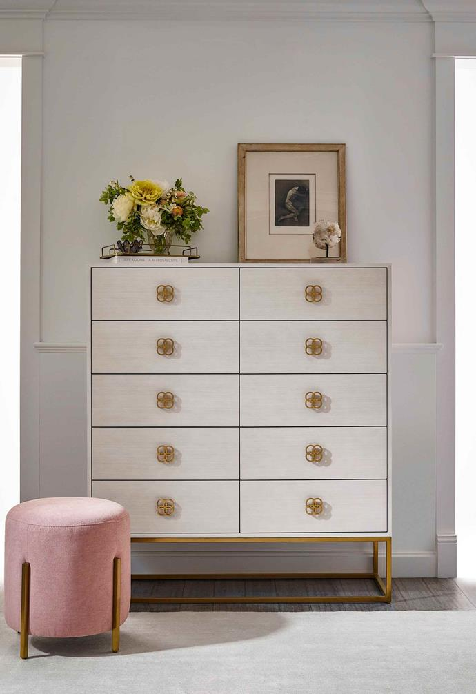 "Sweet sculptural handles to this chest of drawers add a relaxed touch. *Image: [Universal Furniture / Miranda Kerr Home](https://www.universalfurniture.com/mirandakerrhome|target=""_blank""