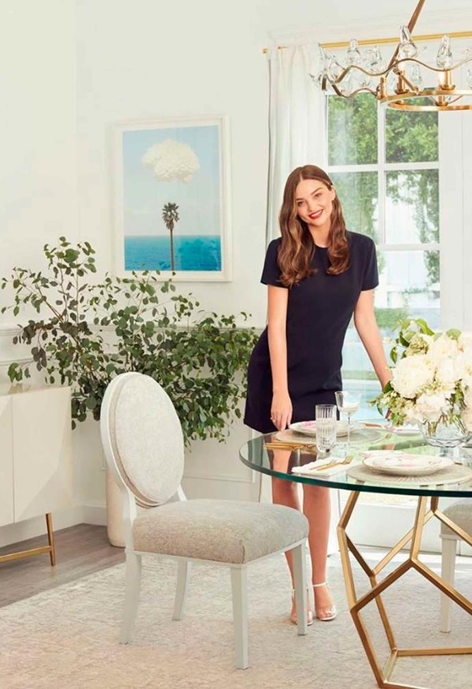 "The collection includes dining chairs and bar stools. *Image: [Universal Furniture / Miranda Kerr Home](https://www.universalfurniture.com/mirandakerrhome|target=""_blank""